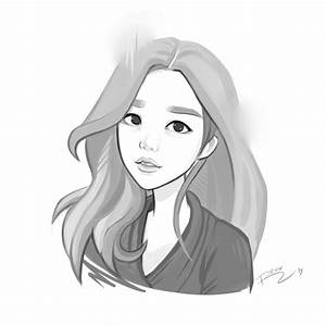 Korean girl sketch by revvriverse on DeviantArt