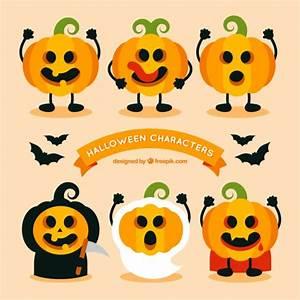 Lustige Krbisse Mit Halloween Kostme Download Der