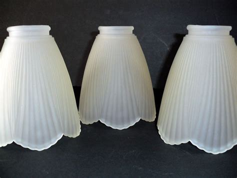 etched glass light shades 3 petal shaped frosted white glass ceiling fan globe light