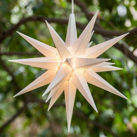 moravian stars  white led moravian star