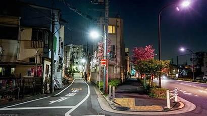 Japan Street Cityscape Night Town Desktop Wallpapers