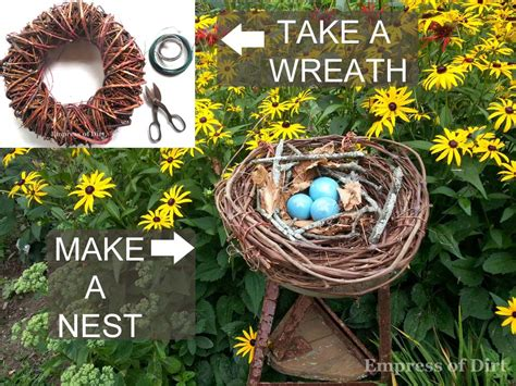 hometalk   wreath   decorative bird nest