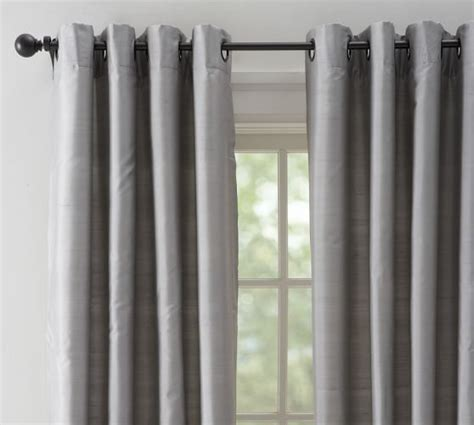 platinum grey silk dupioni drapes with grommets http www potterybarn products dupioni silk