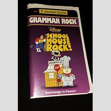School House Rock Vhs Movie Video 25th Anniversary Grammar Edition Elementary  Girl  Vhs Movie