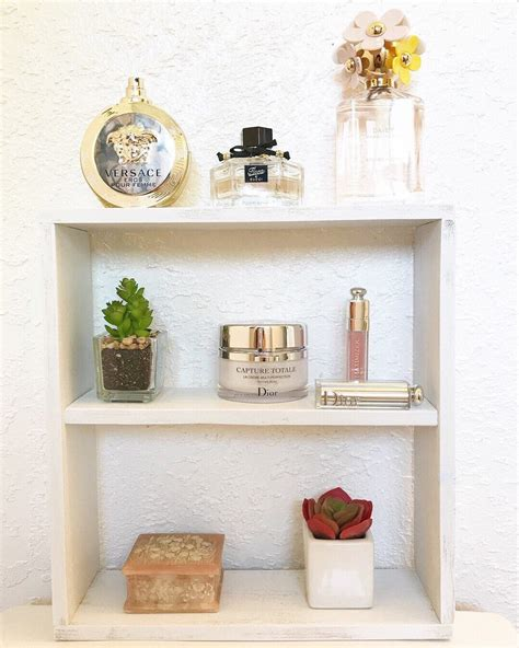 wooden square shelf white shelf wooden floating shelf wall organizer makeup organizer perfume