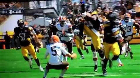 Antonio Brown kicks Spencer Lanning - YouTube