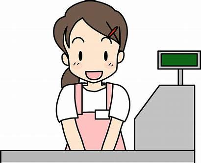 Clerk Cashier Clipart Transparent Drawing Cash Bbq