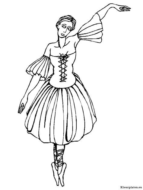 Ballet Kleurplaat by Ballet Kleurplaten Kleurplaten Eu