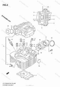 Suzuki Atv 2005 Oem Parts Diagram For Cylinder Head