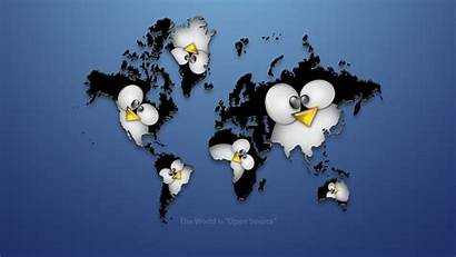 Linux Map Technology Tux Penguins Maps Wallpapers