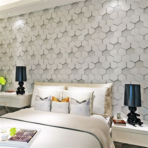 hanmero  embossed geometry  woven room wall paper
