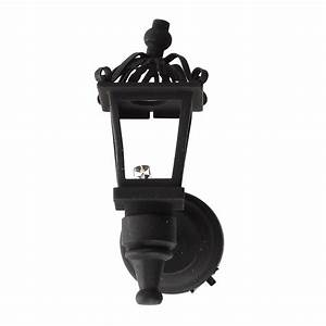 Black Metal 1   12 Dollhouse Miniature Led Wall Light Model