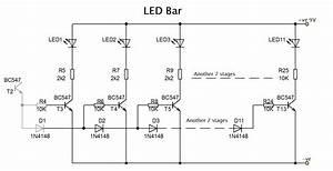 Led Bar Graph With Transistors