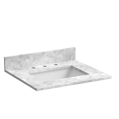 carrara white marble vanity top foremost bath