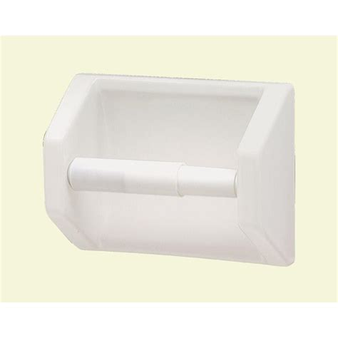 bathroom upgrade ideas lenape toilet paper holder in white 177201 the home depot
