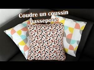 coudre un coussin passepoile poser un passepoil youtube With coudre un canapé en cuir