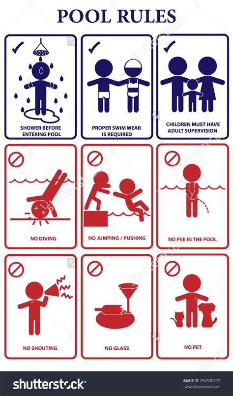 Swimming Pool Rules Clipart (51