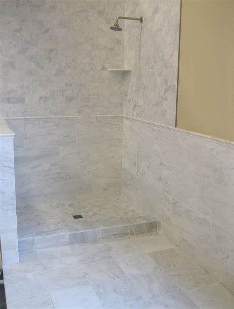 bianco venatino tiles rails corner shelf  mosaics