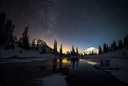 Stars Snow Lake Desktop Wallpapers Backgrounds Mobile