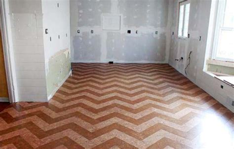 before and after installing a cork tile floor renocompare