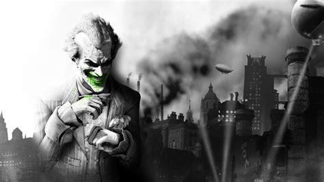 wallpaper video games batman arkham city joker statue
