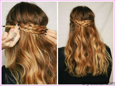 Half Updo Hairstyles Tutorial by Easy Curly Half Updo Hairstyle For Medium
