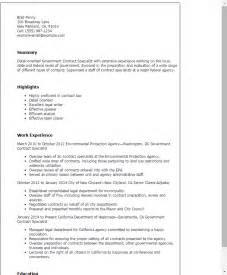 local government resume exles professional government contract specialist templates to showcase your talent myperfectresume