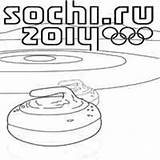 Coloring Curling Olympics Winter Rocks Surfnetkids sketch template