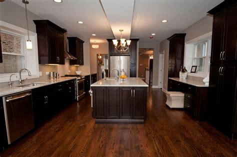 kitchen and floor decor espresso kitchen cabinets with wood floors fair laundry room style in espresso kitchen cabinets