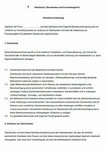 überstunden Berechnen Excel Vorlage : betriebsvereinbarung berstunden vorlage zum download ~ Themetempest.com Abrechnung