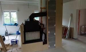 Kaminofen Verkleidung Selber Bauen : wasserf hrender tunnelkamin mit grenaisol kaminbauplatten ~ Watch28wear.com Haus und Dekorationen