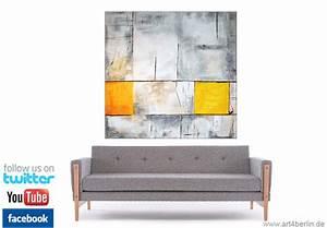Abstrakte Kunst Kaufen : yellow selection mischtechnik auf leinwand und spachtelstrukturen 140 140 cm original 990 ~ Watch28wear.com Haus und Dekorationen