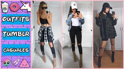 OUTFITS CASUALES TUMBLR 2017 2018 ud83dudc9c MODA OTOu00d1O INVIERNO MUJER JUVENIL ud83cudf38 - YouTube