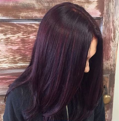 beautiful plum color  red violet highlights