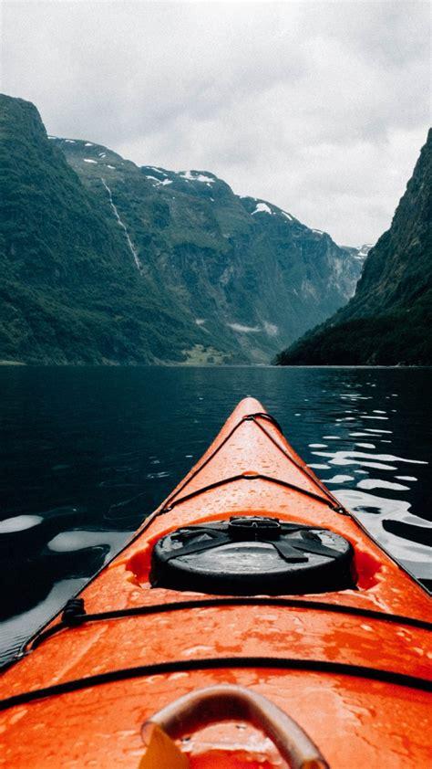 wallpaper canoe scandinavia europe  travel