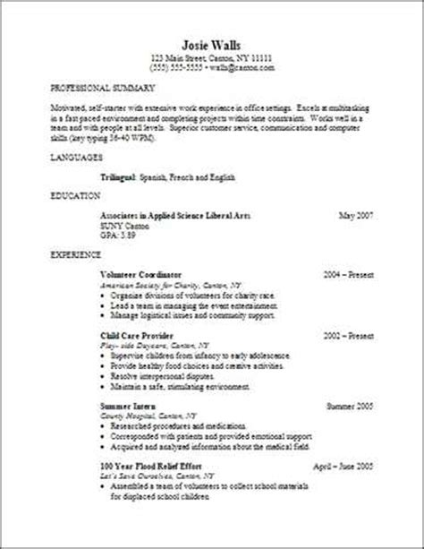 associate degree resume sle source