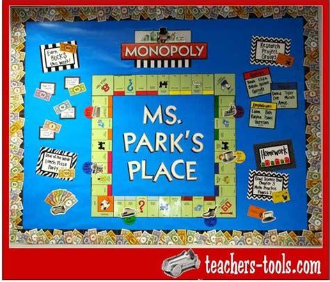 monopoly classroom ideas  pinterest printable