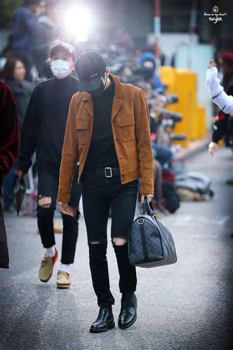 bts suga  images korean fashion kpop kpop fashion