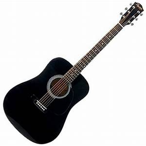 Squier by Fender SA-105 Acoustic Guitar, Black at ...