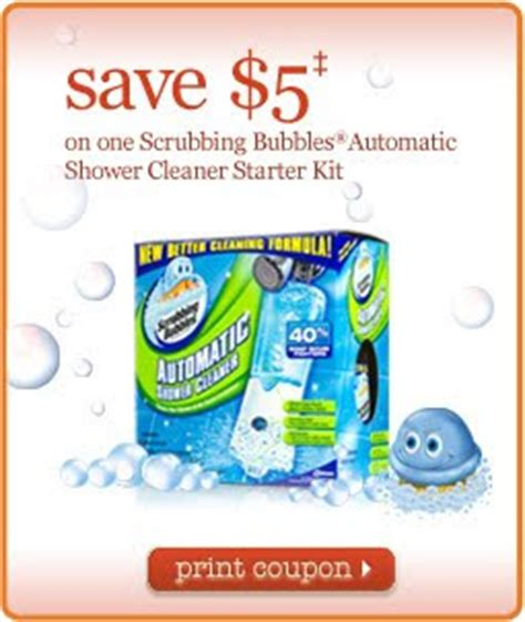 75916 Coupon Scrubbing Bubbles Shower Cleaner by Centsible Savings Print Coupons For Scrubbing Bubbles
