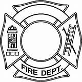 Fire Maltese Coloring Cross Department Hat Firefighter Fireman Drawing Dept Template Clipart Ladder Bomberos Axe Templates Firefighting Clipartmag Oro Cruz sketch template