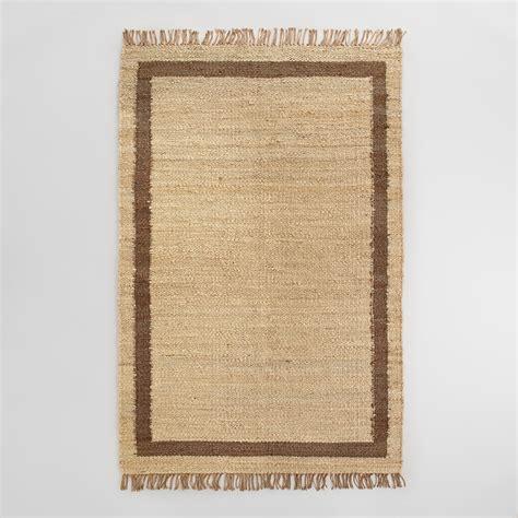 world market jute rug shiitake windowpane bordered jute area rug world market