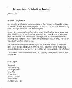 Free, 7, Sample, Reference, Letter, For, Schools, In, Pdf