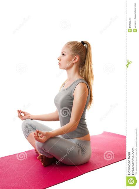 yoga girl royalty  stock  image