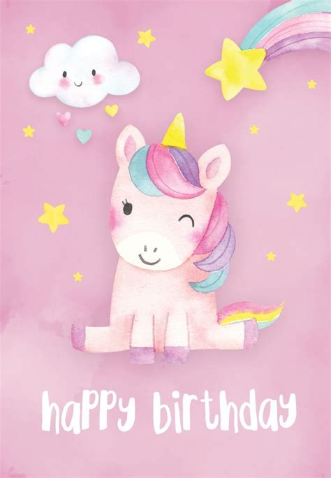 happiest unicorn birthday card    unicorn