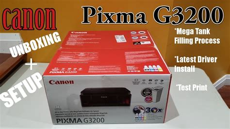 Canon pixma g3200 driver download windows linux mac os x , canon pixma g3200 driver support : Canon Pixma G3200 Mega Tank Printer Unboxing + Setup ...