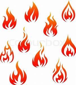 Fire symbols Stock Vector Colourbox