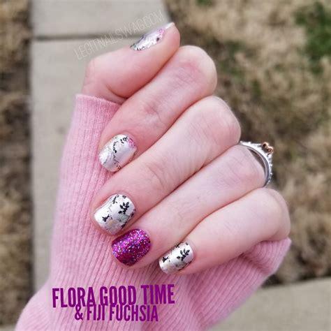 floral nail art diy   color street flora good time
