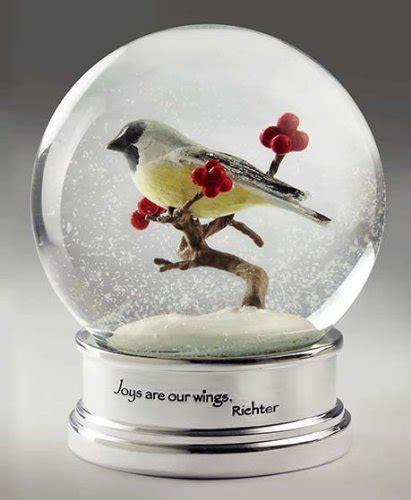 bird snow globe christmas
