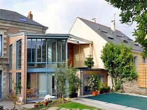 une maison nantaise s39ouvre a la lumiere With good electricite a la maison 10 pose de briques de verre